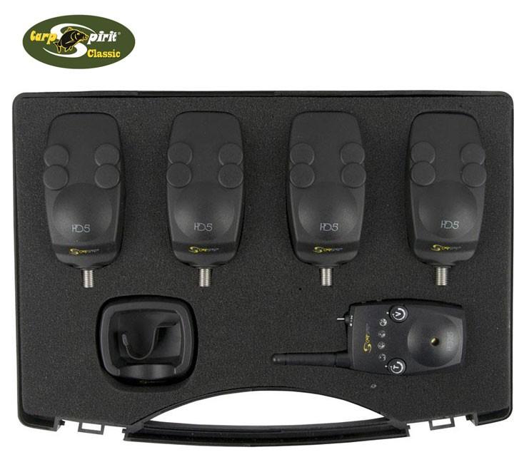 Coffret CarpSpirit 4 Detecteurs HD5 + Centrale HDR5